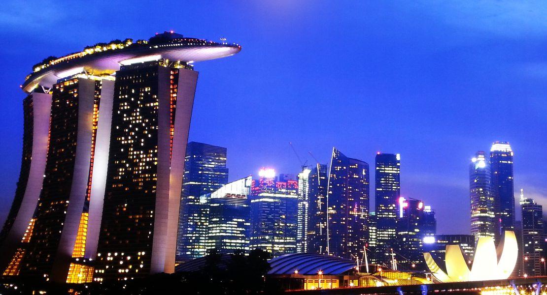 Singapur und Marina Bay Sands